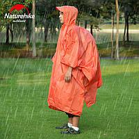Накидка от дождя (пончо) Naturehike (оранжевая)