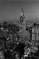 Фотообои бумажные на стену 115х175 см 1 лист: город Нью-Йорк, Крайслер-билдинг