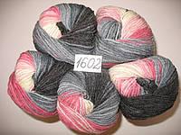Пряжа для ручного вязания Alize LANAGOLD BATIK (Ализе ланаголд батик)   1602