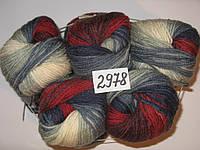 Пряжа для ручного вязания Alize LANAGOLD BATIK (Ализе ланаголд батик) 2978