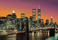 Фотообои флизелиновые на стену 366х254 см 8 листов: город Нью-Йорк Манхэттен