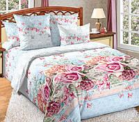 Двуспальное постельное белье с простыней на резинке 160/200/34, Поэма, перкаль 100%хлопок