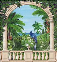 Фотообои из бумаги для стен 194*201 см , 12 листов, Пейзажи, Животные, Парадиз