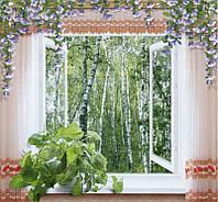Фотообои из бумаги для стен 201*194 см , 12 листов, Пейзажи, Окно В Сказку