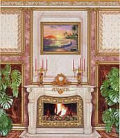 """Фотообои из бумаги для стен 201*242 см , 15 листов, Архитектурные сооружения, Камин """"Престиж"""""""