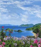 Фотообои из бумаги для стен 201*242 см , 15 листов, Моря, реки, озера, океаны, Мальдивы