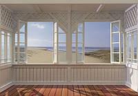 Фотообои на плотной полуглянцевой бумаге для стен 388*270 см из 8 листов: Моря, реки, озера, океаны, Отель Bay View