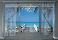 Фотообои на плотной полуглянцевой бумаге для стен 368*254 см из 8 листов: Моря, реки, озера, океаны, Тераса