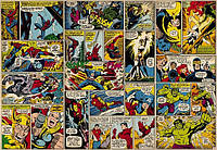 Фотообои на плотной полуглянцевой бумаге для стен 368*254 см из 8 листов: Детские, Герои комиксов