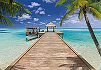 Фотообои бумажные на стену 368х254 см 8 листов: Морской курорт. Komar 8-921