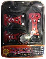 Накладки на педали GZ-031 красные