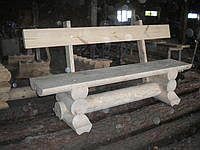 Скамейка со спинкой и бугелем со сруба, фото 1