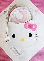 Детская ручная сумочка кошелек Hello Kitty из фетра для девочки