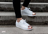Женские кроссовки Adidas Superstar Metal/Toe White