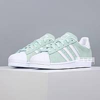 Женские кроссовки Adidas Superstar Olive