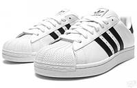 Женские кроссовки Adidas Superstar White-Black