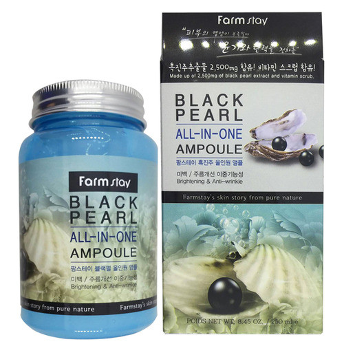 Сыворотка Farmstay Black Pearl All-in-One Ampoule с экстрактом жемчуга