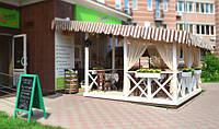 Летние деревянные террасы для кафе