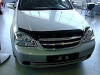 Дефлектор капота, мухобойка Chevrolet LACETTI sedan, wagon 2004- SIM