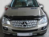 Дефлектор капота, мухобойка Mercedes M-Class 2005-2011 SIM