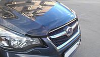 Дефлектор капота, мухобойка Subaru Impreza 2011- темный SIM