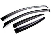 Дефлекторы окон, ветровики RENAULT Duster 2011- темный SIM