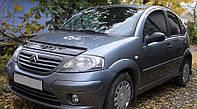 Дефлектор капота, мухобойка Citroen C3 с 2001–2009 г.в. VIP