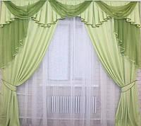 Комплект шторы и ламбрекен в комнату