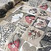 Бязь Тильда с сердцами и пуговицами, ш. 220 см