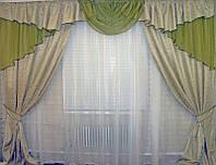 Шикарный комплект готовых штор с ламбрекеном