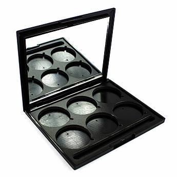 Пустой пан для теней с зеркалом 6 цветов Beauties Factory Empty Eyeshadow Case