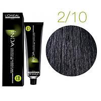 Inoa краска для волос без аммиака 2.10 темный шатен пепельный натуральный, 60 мл