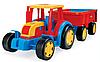 Великий іграшковий трактор Гігант з причепом (66100), фото 2