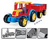 Великий іграшковий трактор Гігант з причепом (66100), фото 5