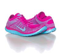 Кроссовки беговые Nike Free Flyknit 4.0 Fuchsia Violet Blue