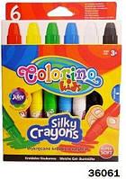 Мел шелковый, выкручивающиеся, 6 цветов, ТМ Colorino(36061)