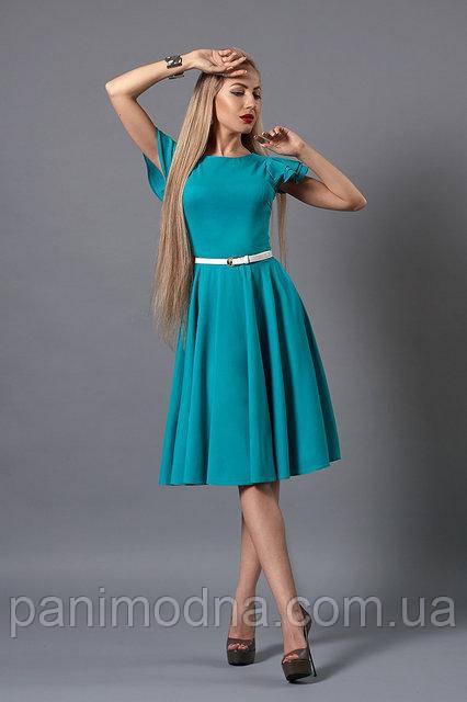 """Яркое летнее платье с тонким пояском - """"Пиона""""  код 522"""