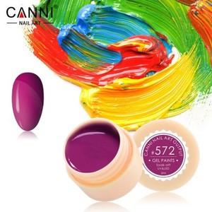 Гель-краска Canni №572 темная розово-пурпурная