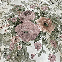 Бязь квіти гобеленові на молочному тлі, ш. 220 см, фото 1