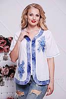 Блуза из хлопка на молнии
