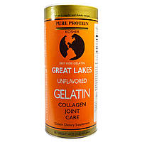 Great Lakes Gelatin Co., Beef Hide Gelatin, Collagen Joint Care, Unflavored, 16 oz (454 g) желатин говяжий
