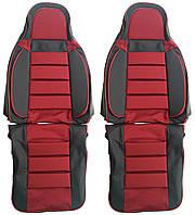 Авточехлы Pilot ВАЗ 2108 - 2115 кожвинил гобелен красные