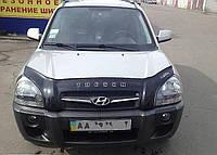 Дефлектор капота, мухобойка Hyundai TUCSON 2004- VIP