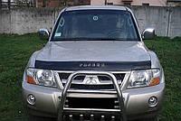 Дефлектор капота, мухобойка Mitsubishi Pajero 3 с 1998-2006г.в. VIP