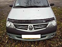 Дефлектор капота, мухобойка Renault Logan с 2005 г.в VIP