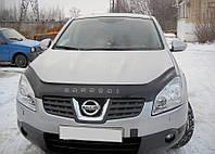 Дефлектор капота, мухобойка Nissan QASHQAI c 2006 г.в. VIP
