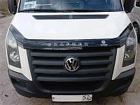Дефлектор капота, мухобойка Volkswagen Crafter с 2007 г.в. VIP