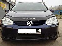 Дефлектор капота, мухобойка Volkswagen Golf-5 с 2003 г.в. VIP