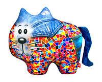 """Антистрессовая игрушка мягконабивная """"SOFT TOYS """"Кіт"""", джинсовый, 27*20см(DT-ST-01-61)"""