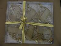 Подвеска декор. ткань 15см, 6шт, 6цв,(НГ0034)